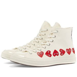NEW Converse x CDG Play Chuck Hi Multi heart
